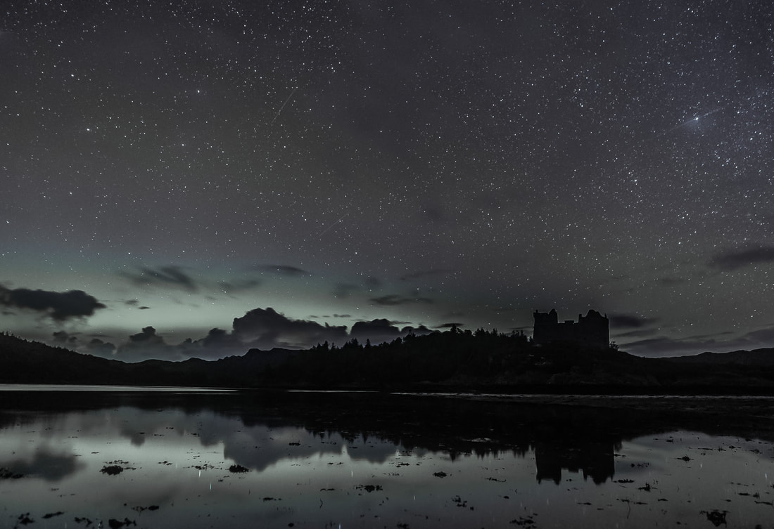 Castle Tioram Northern Lights - What the eye saw