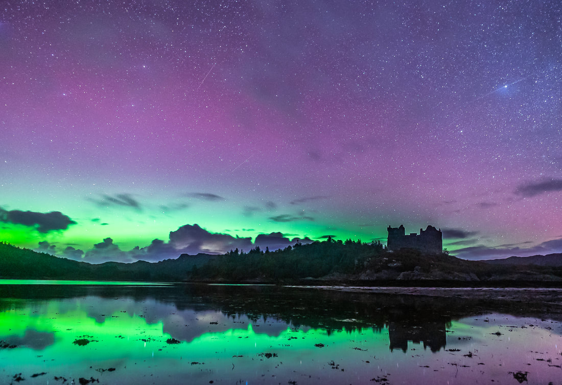 Castle Tioram Northern Lights - What the camera saw
